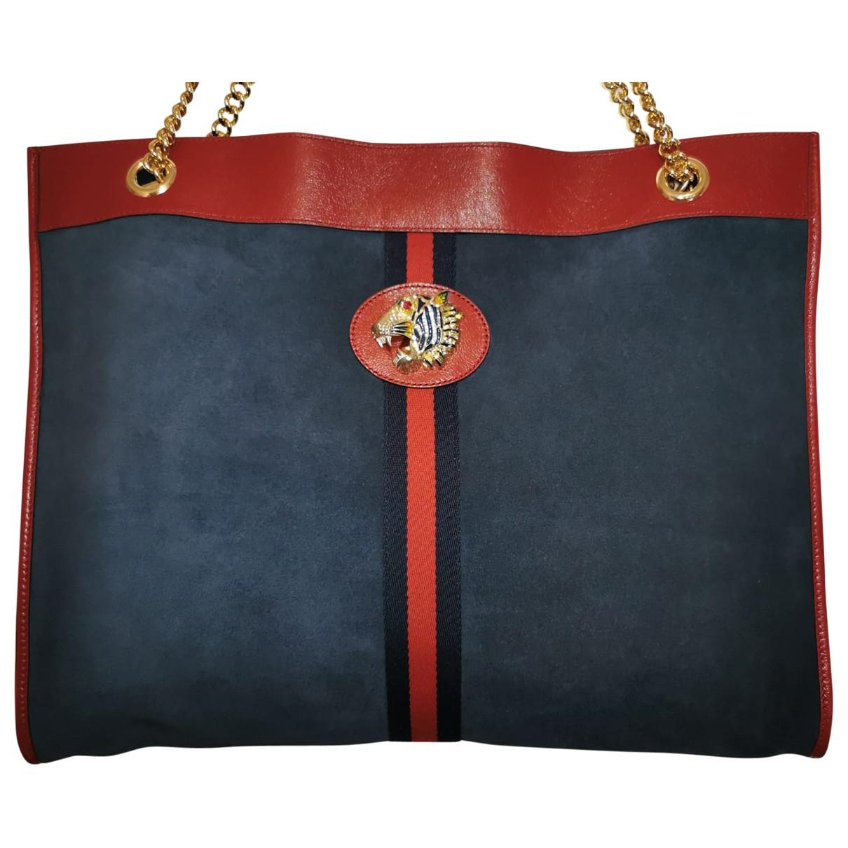 Gucci Rajah Blue Suede handbag for Women \N