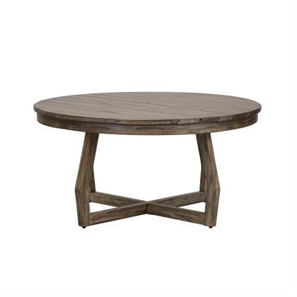 Hayden Way Collection 41-OT1010 Cocktail Table with Planked Tops  Unique Angled Intersecting Base and Reclaimed Wood  in Gray Wash