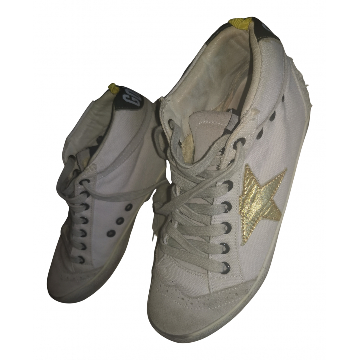 Golden Goose Mid Star Multicolour Cloth Trainers for Women 35 IT