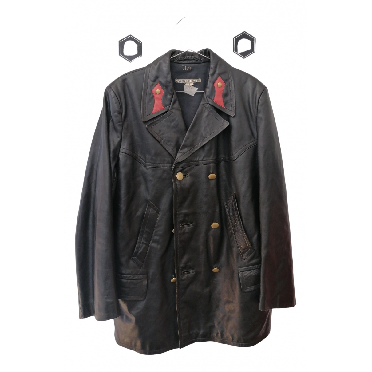 Non Signé / Unsigned \N Black Leather jacket  for Men 46 IT