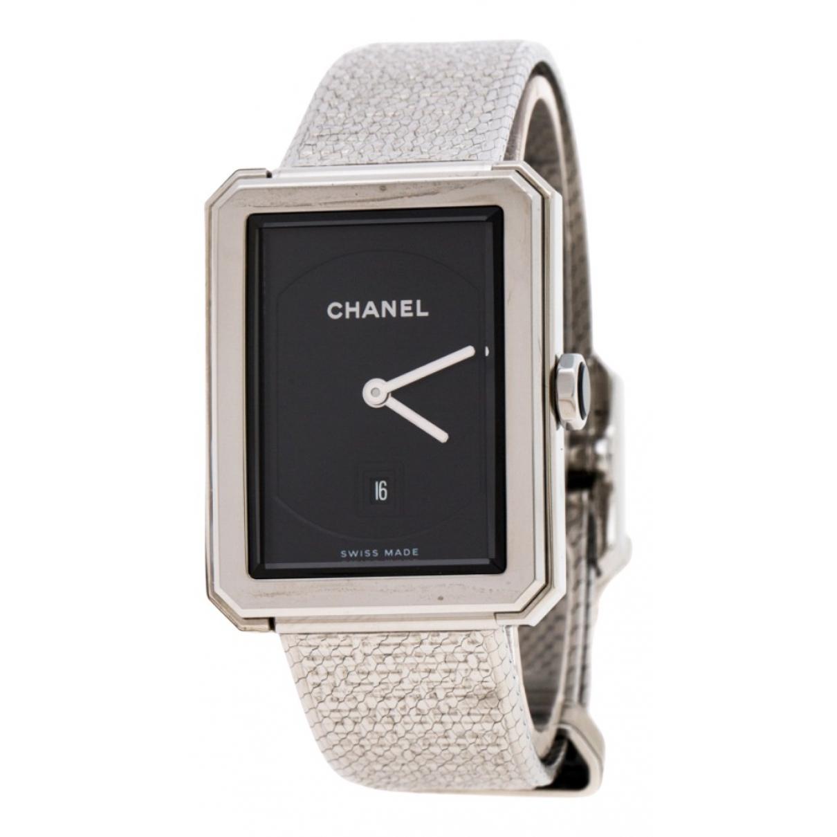 Chanel Boy-Friend Uhr in  Schwarz Stahl