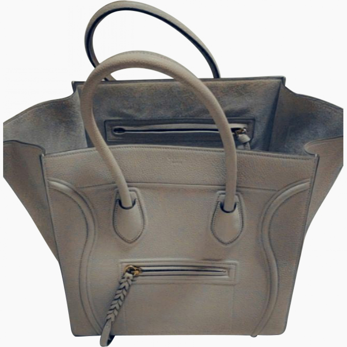 Celine Luggage Phantom Grey Leather handbag for Women \N