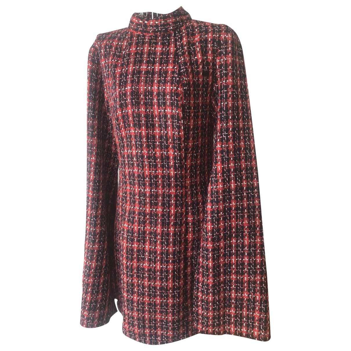Non Signe / Unsigned \N Kleid in  Bordeauxrot Tweed