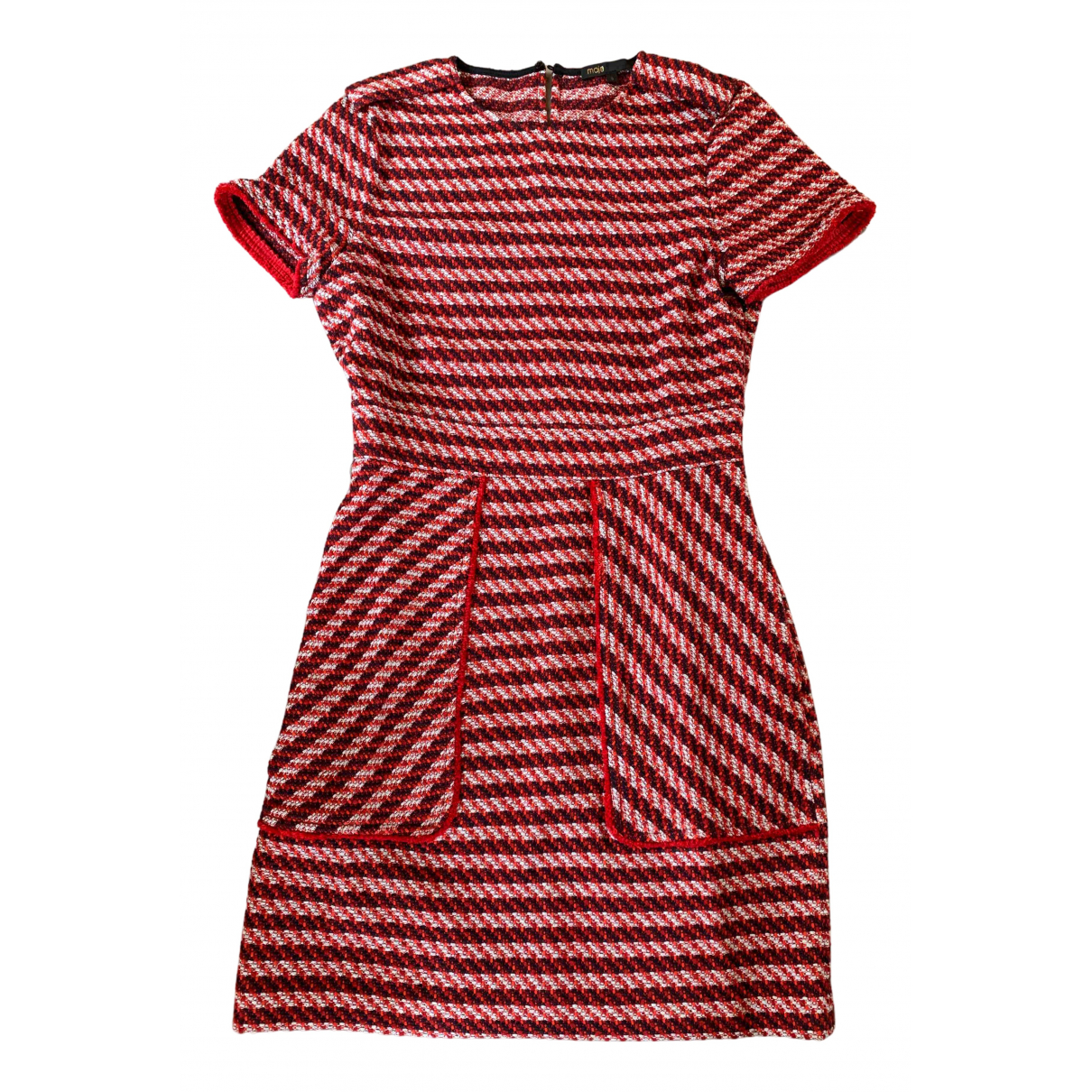 Maje \N Kleid in  Rot Baumwolle