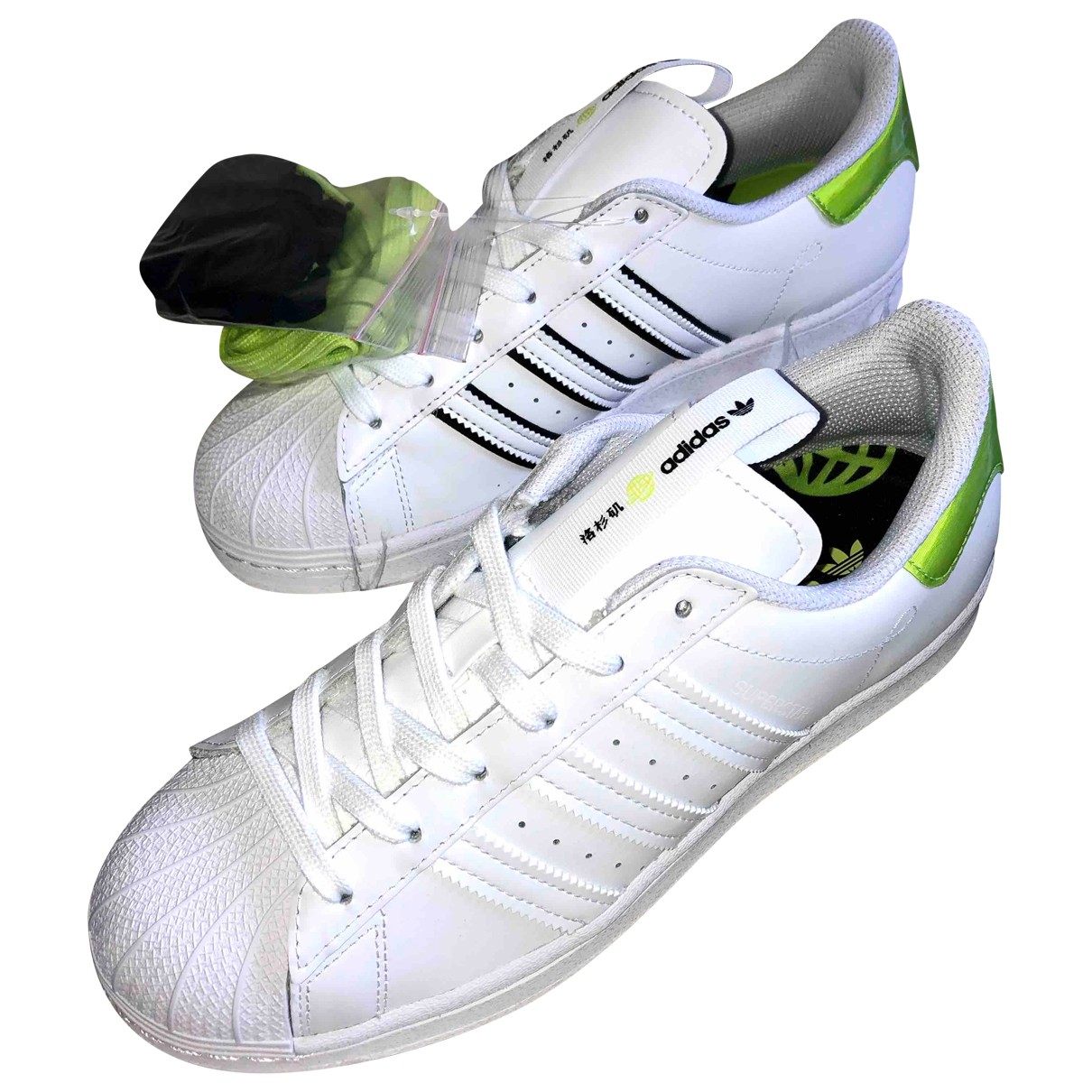 Adidas - Baskets Superstar pour femme en cuir - blanc