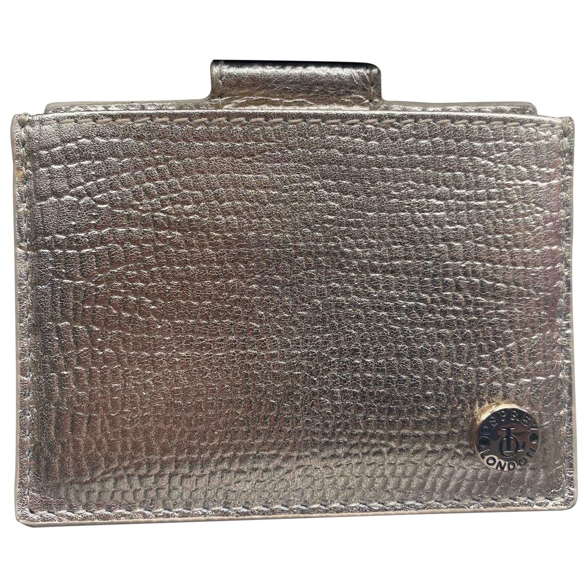 Osprey - Petite maroquinerie   pour femme en cuir - dore
