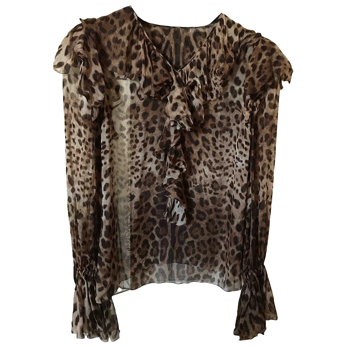 Dolce & Gabbana \N Top in  Braun Seide