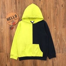 Boys Two Tone Kangaroo Pocket Hoodie