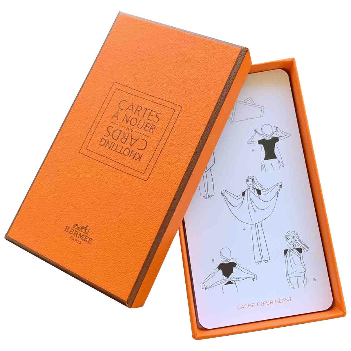 Hermes \N Accessoires und Dekoration in  Orange Synthetik