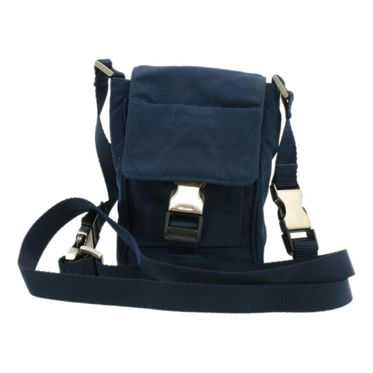 Prada \N Handtasche in  Blau Leinen
