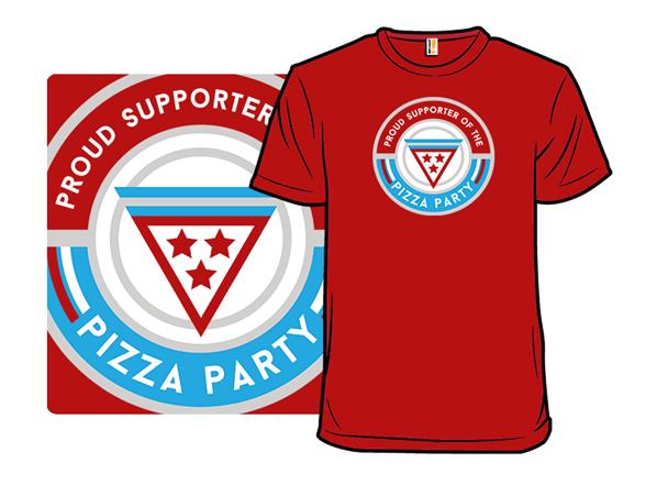Vote Pizza T Shirt