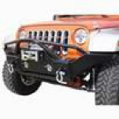 Rampage Recovery Front Bumper with Stinger (Black) - 86510R