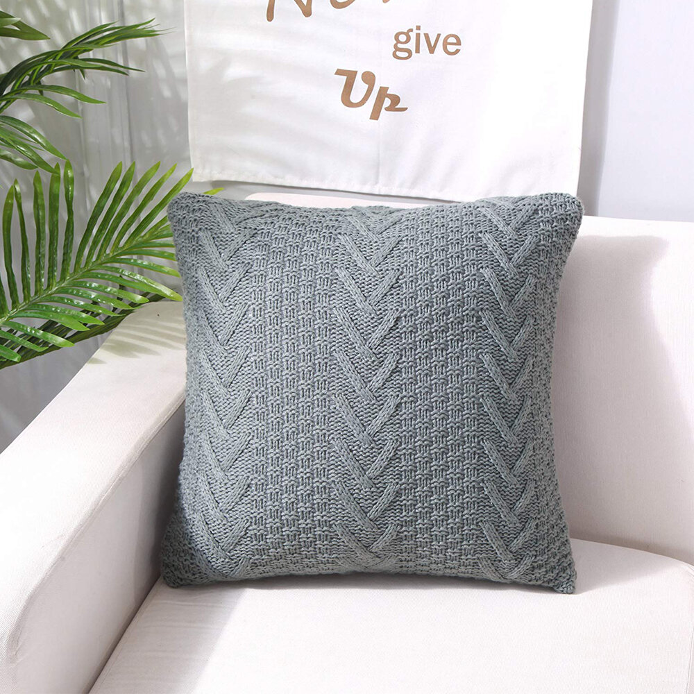 Fashion Knitting Throw Pillow Cases Cafe Sofa Cushion Cover Home Decor
