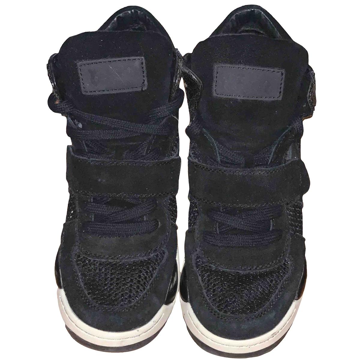Ash - Baskets   pour femme en velours - noir