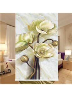 3D Delicate Empaistic Floral Print Blackout and Waterproof Roller Shades