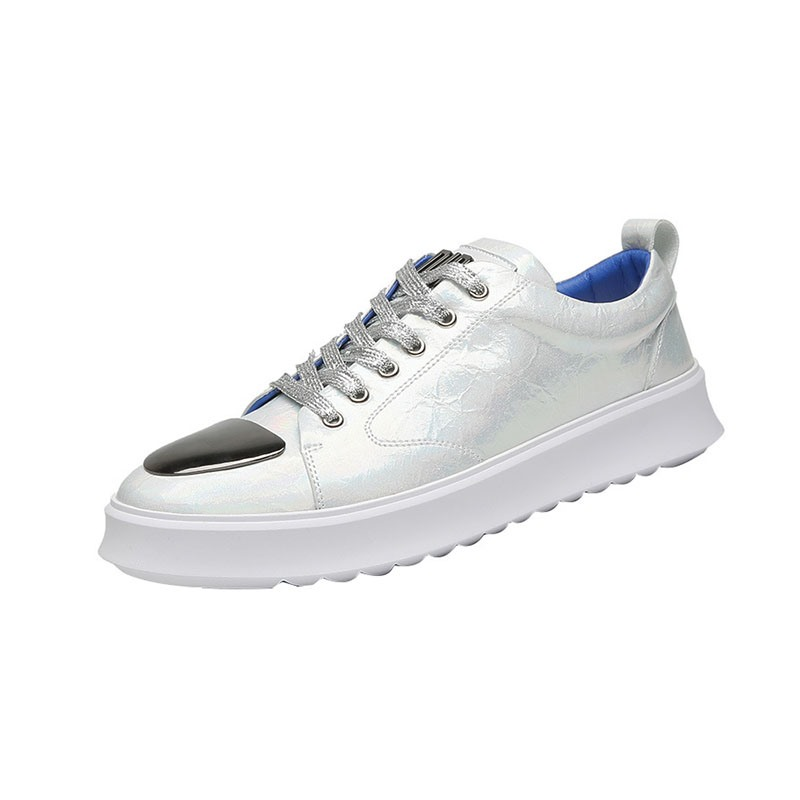 Ericdress Lace-Up Patchwork Round Toe Men's Skate Shoes