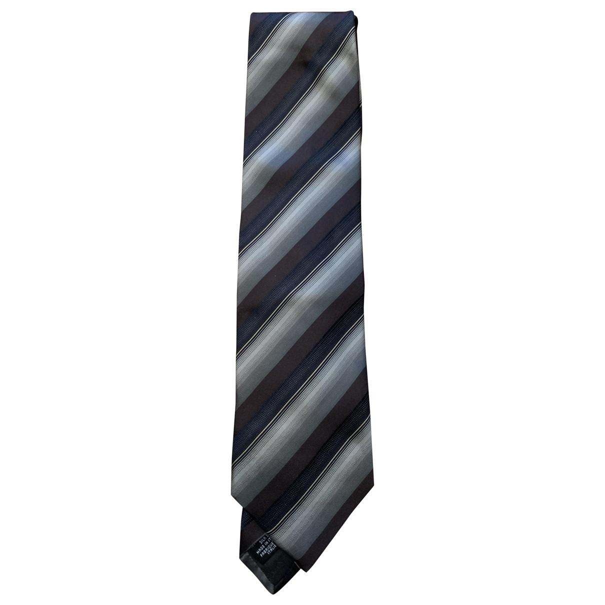 Armani Collezioni \N Krawatten in  Grau Seide