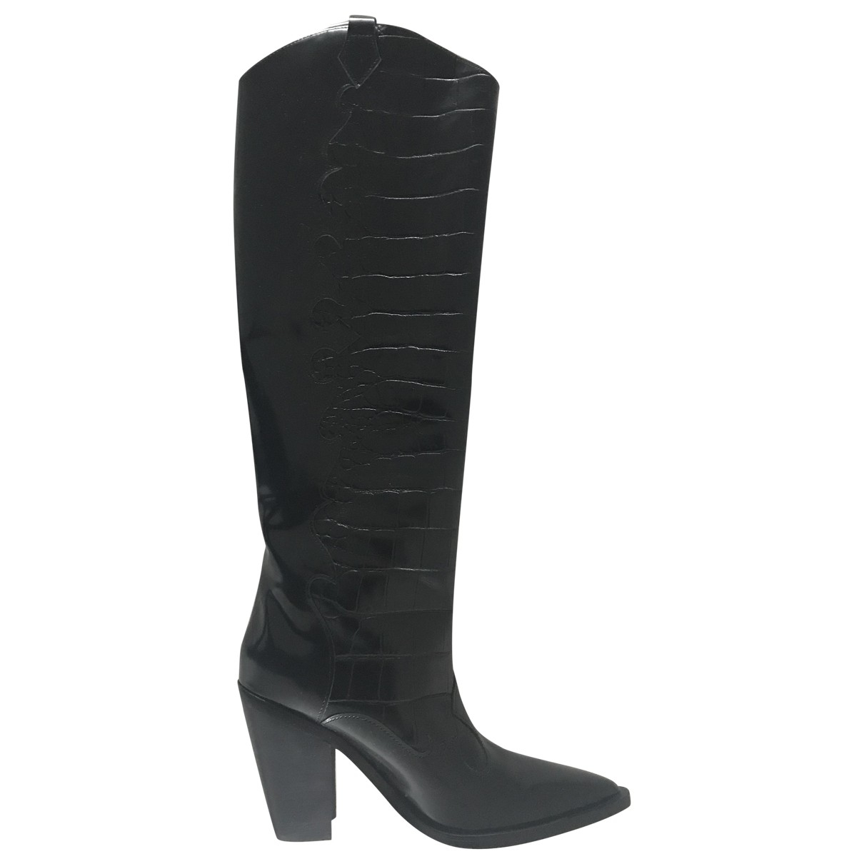 Sigerson Morrison \N Black Patent leather Boots for Women 37 EU