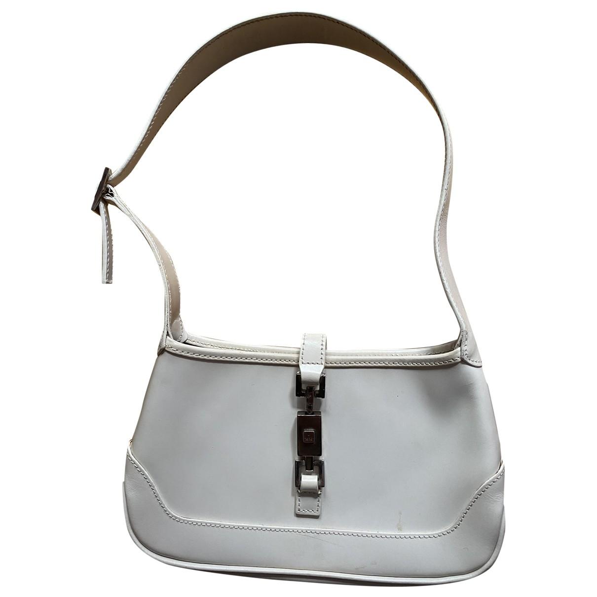 Gucci Jackie Vintage  White Leather handbag for Women \N