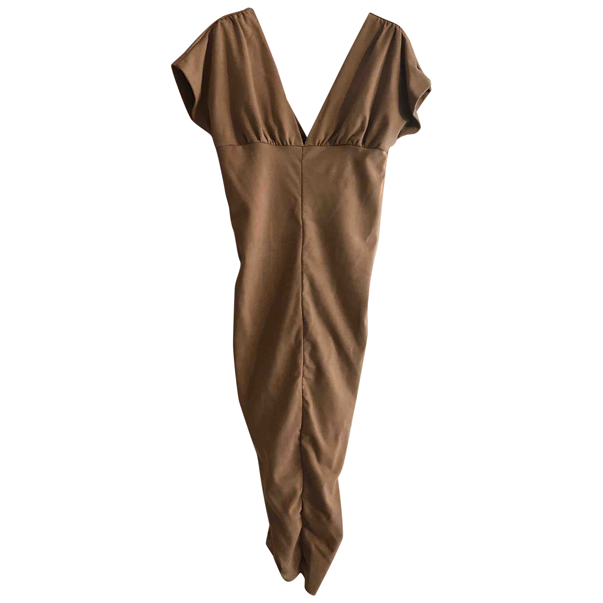 Mangano \N Kleid in  Kamel Synthetik