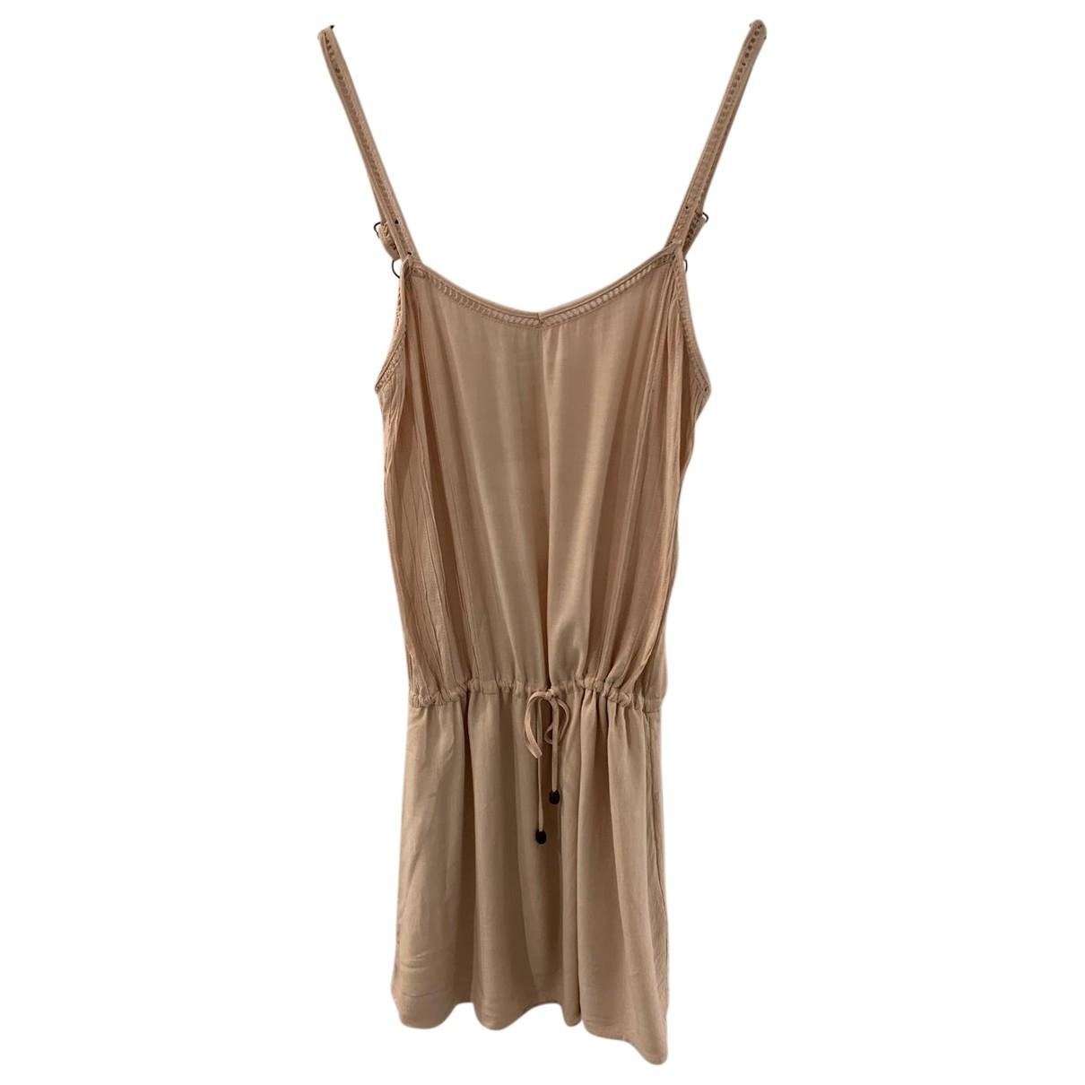 Anine Bing \N Kleid in  Rosa Baumwolle