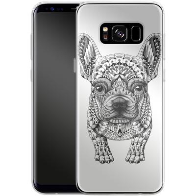 Samsung Galaxy S8 Silikon Handyhuelle - French Bulldog von BIOWORKZ