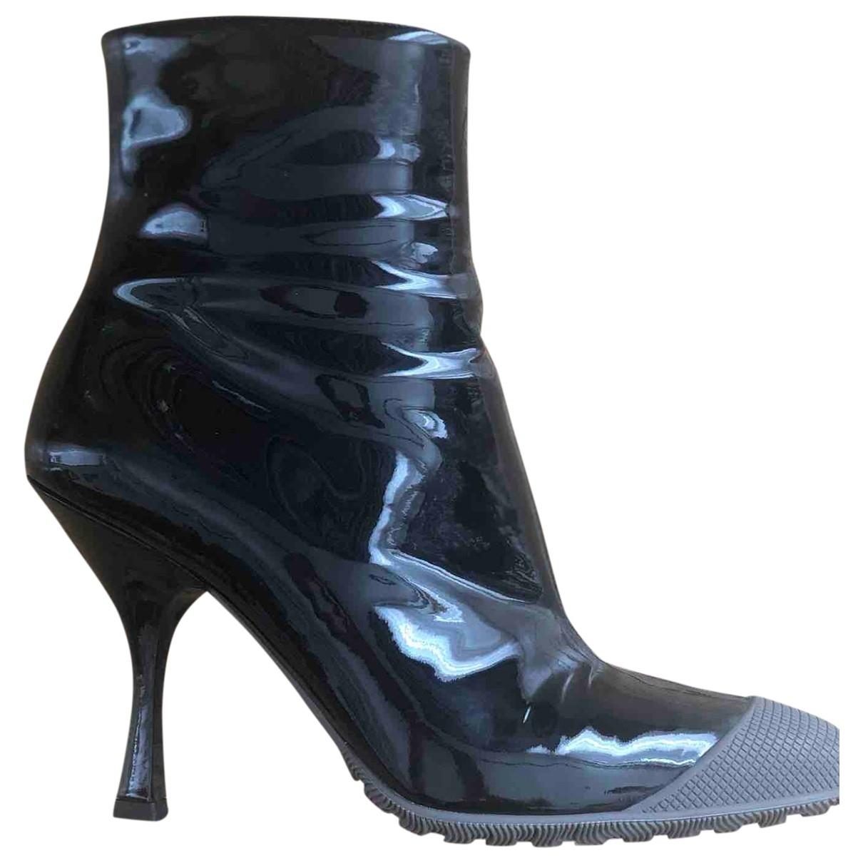 Miu Miu \N Black Patent leather Ankle boots for Women 37 EU