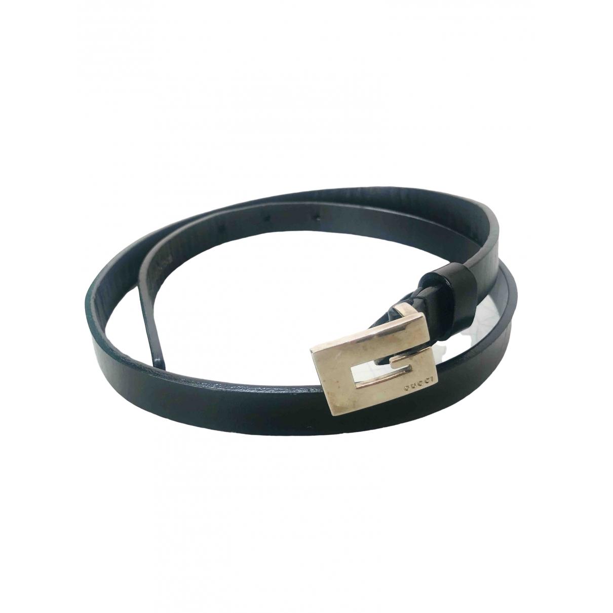 Gucci \N Black Leather belt for Women 70 cm