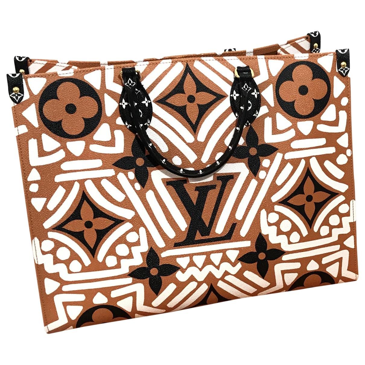 Louis Vuitton Onthego Handtasche in  Kamel Leinen