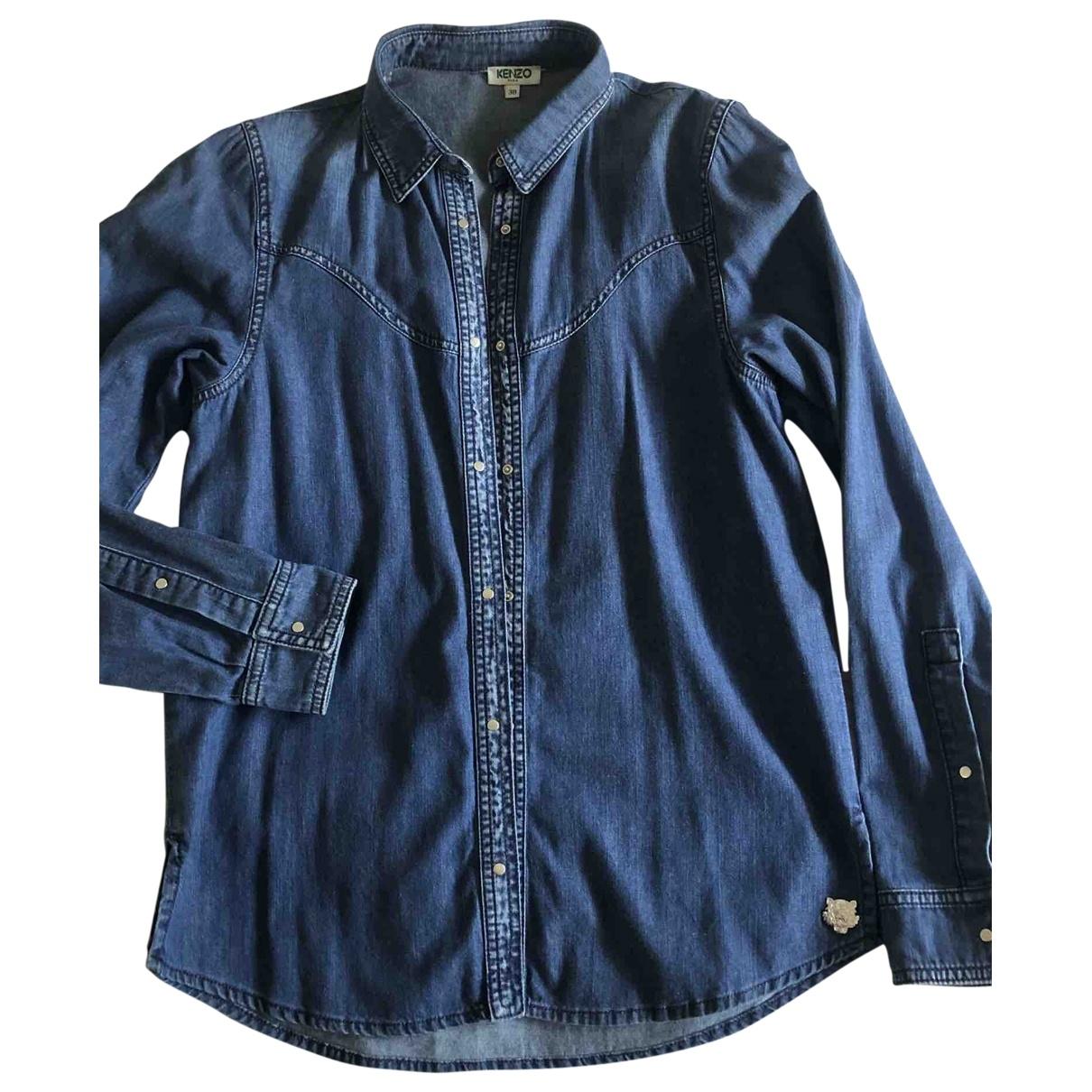 Kenzo \N Top in  Blau Denim - Jeans