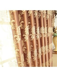 Luxurious Chenille Jacquard Blackout Custom Living Room Curtains Heat Insulation Water-proof and Windproof Effect No Pilling No Fading No off-lining