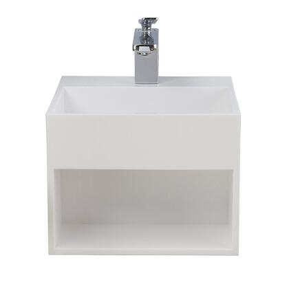7-554WH-GL Sanders Resin Wall Hung White