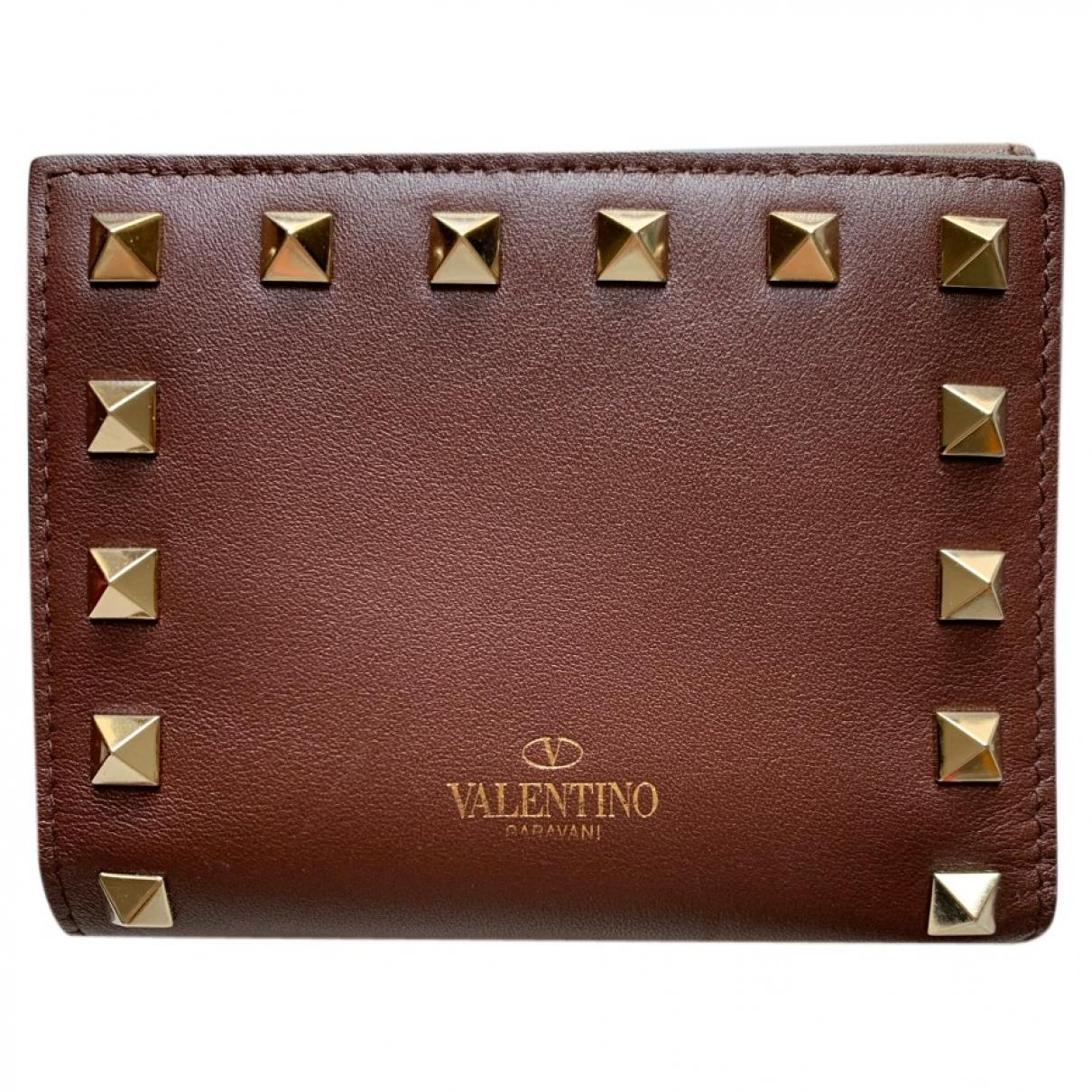 Valentino Garavani \N Portemonnaie in  Braun Leder