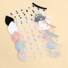 5pairs Dot Pattern Socks