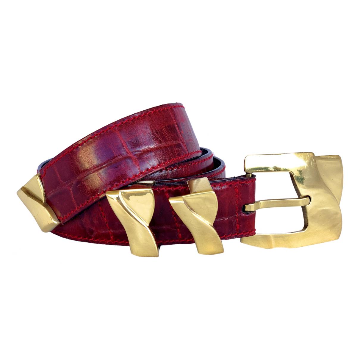 Cinturon de Cuero Gianni Versace