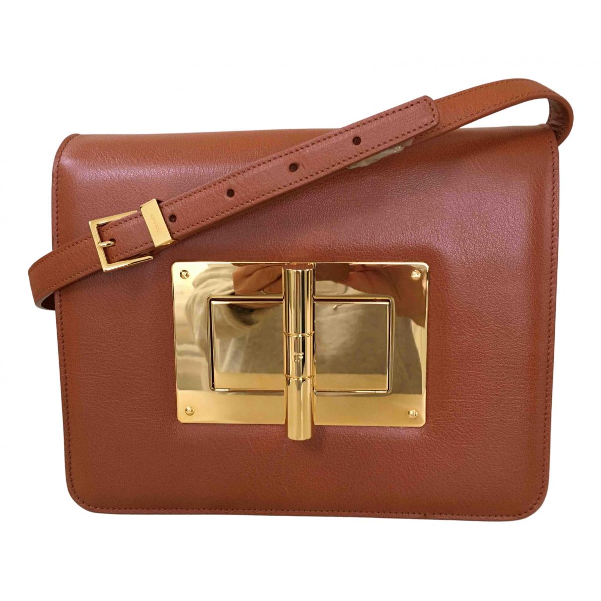 Tom Ford Natalia Orange Leather handbag for Women N