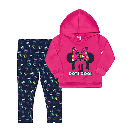 Pinkfong Toddler Girls 2-pc. Minnie Mouse Legging Set, 2t , Pink