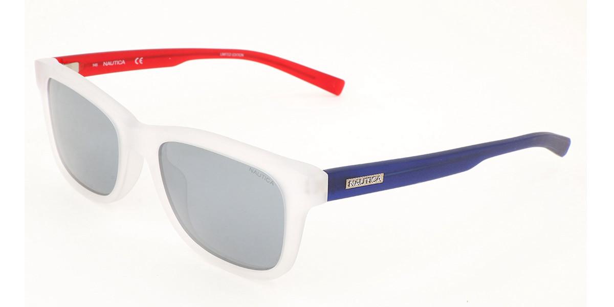 Nautica N6231S 980 Men's Sunglasses White Size 55
