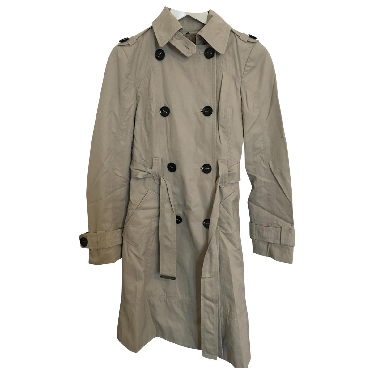 Zara \N Beige Cotton Trench coat for Women 34 FR