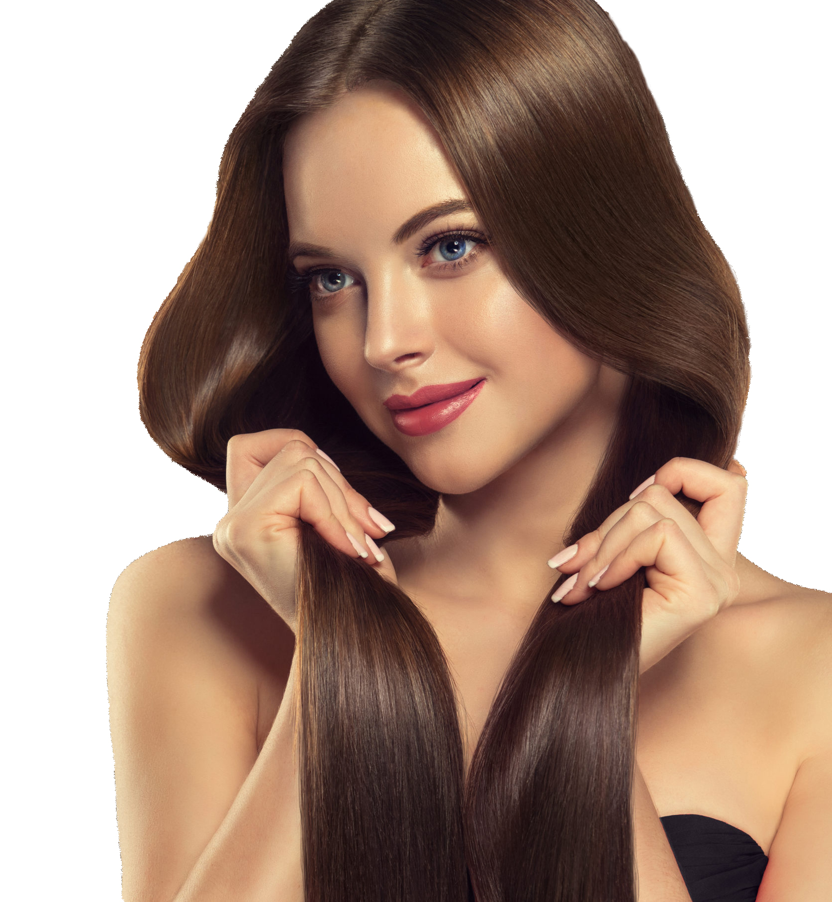 Silky Straight Weft Remy Hair Extensions - 18, 18inch