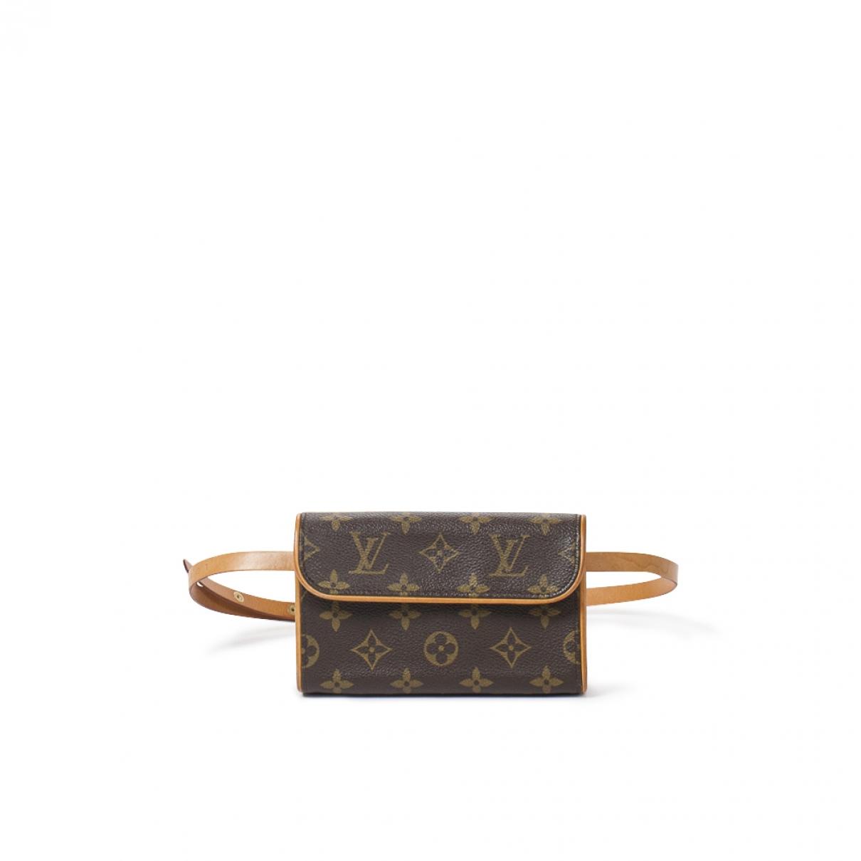 Louis Vuitton Florentine Brown Cotton handbag for Women \N