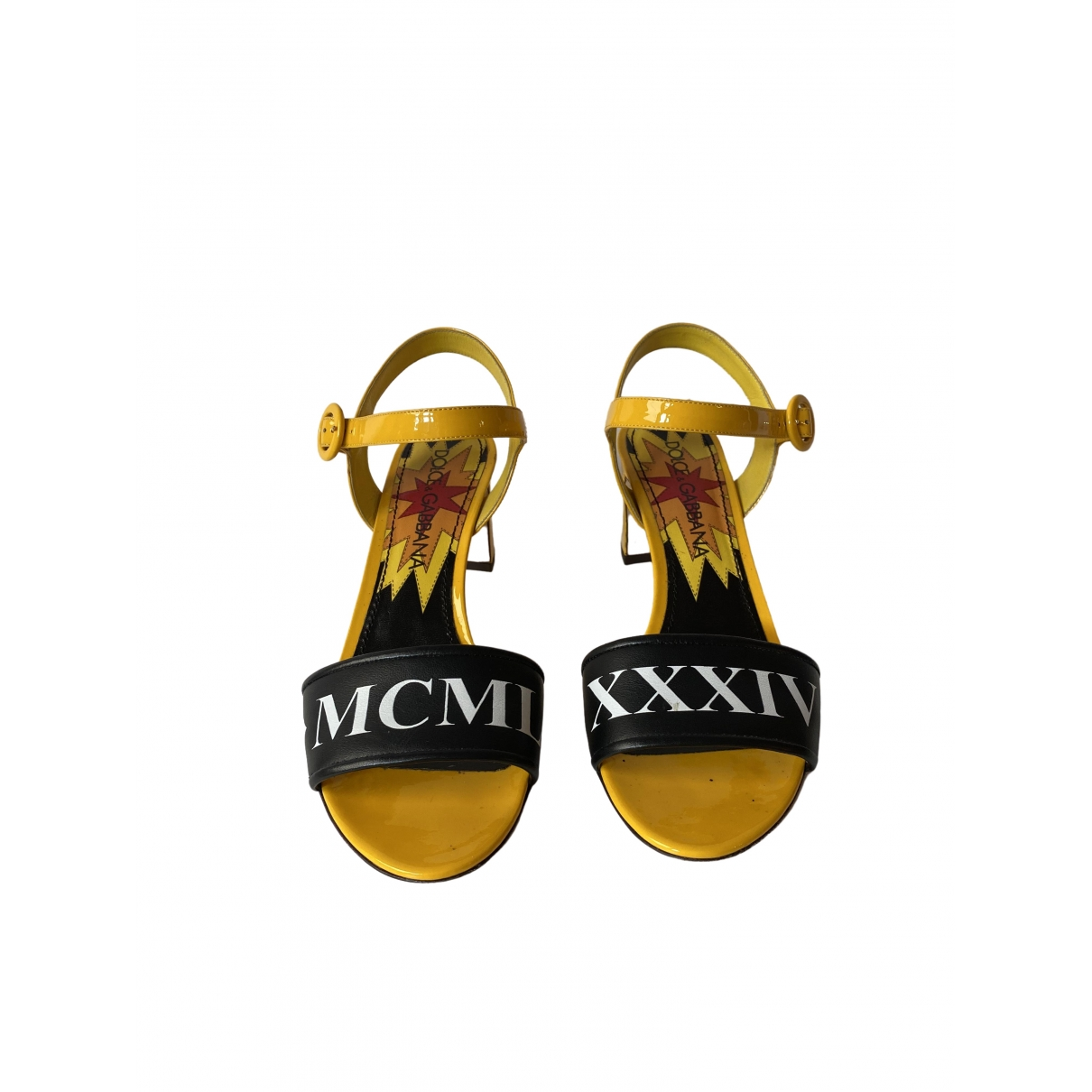 Dolce & Gabbana \N Yellow Patent leather Sandals for Women 39 EU