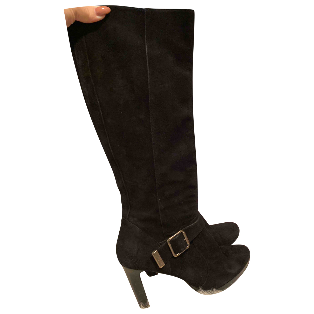 Minelli - Bottes   pour femme en suede - noir