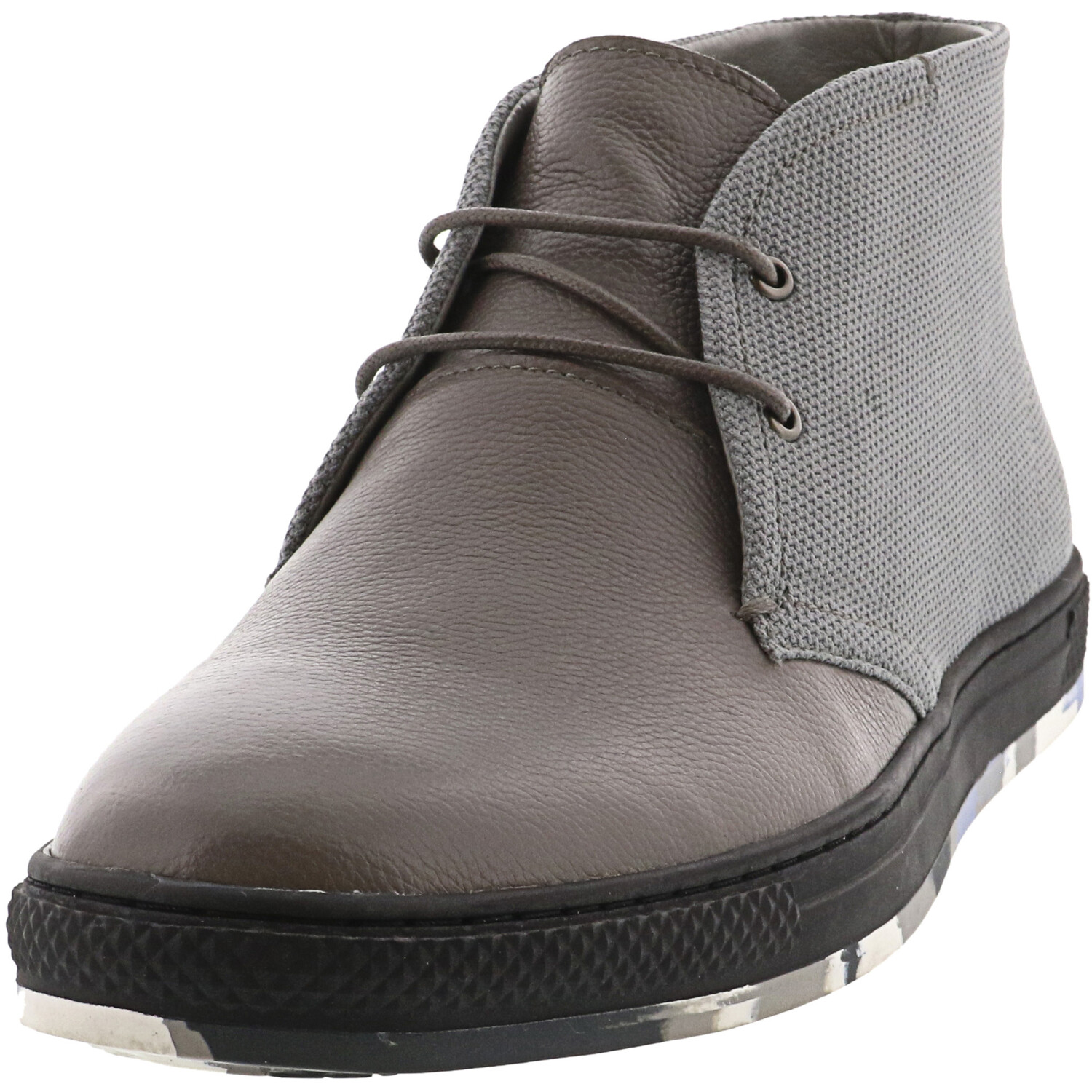 English Laundry Men's William Grey High-Top Leather Sneaker - 9M