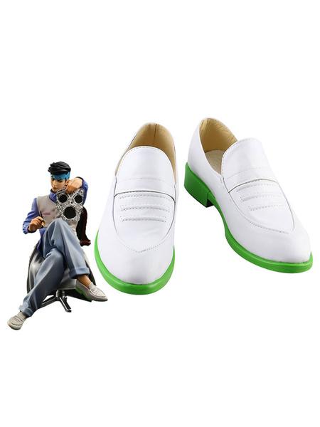 Milanoo JoJos Bizarre Adventure Rohan Kishibe White Cosplay Shoes