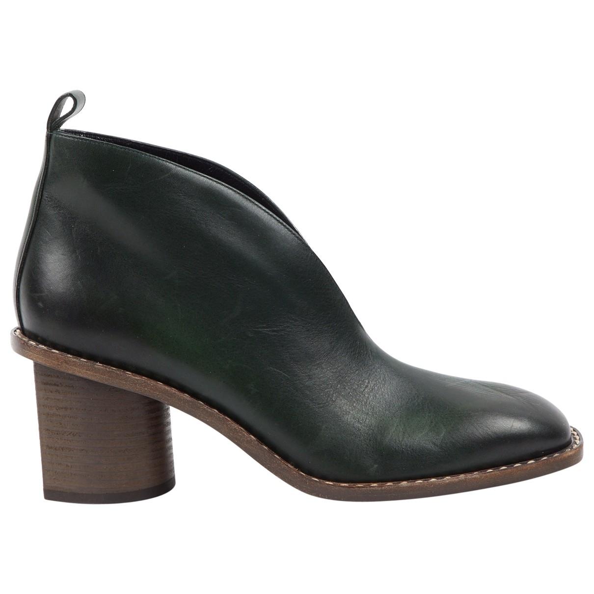 Celine \N Stiefel in  Gruen Leder