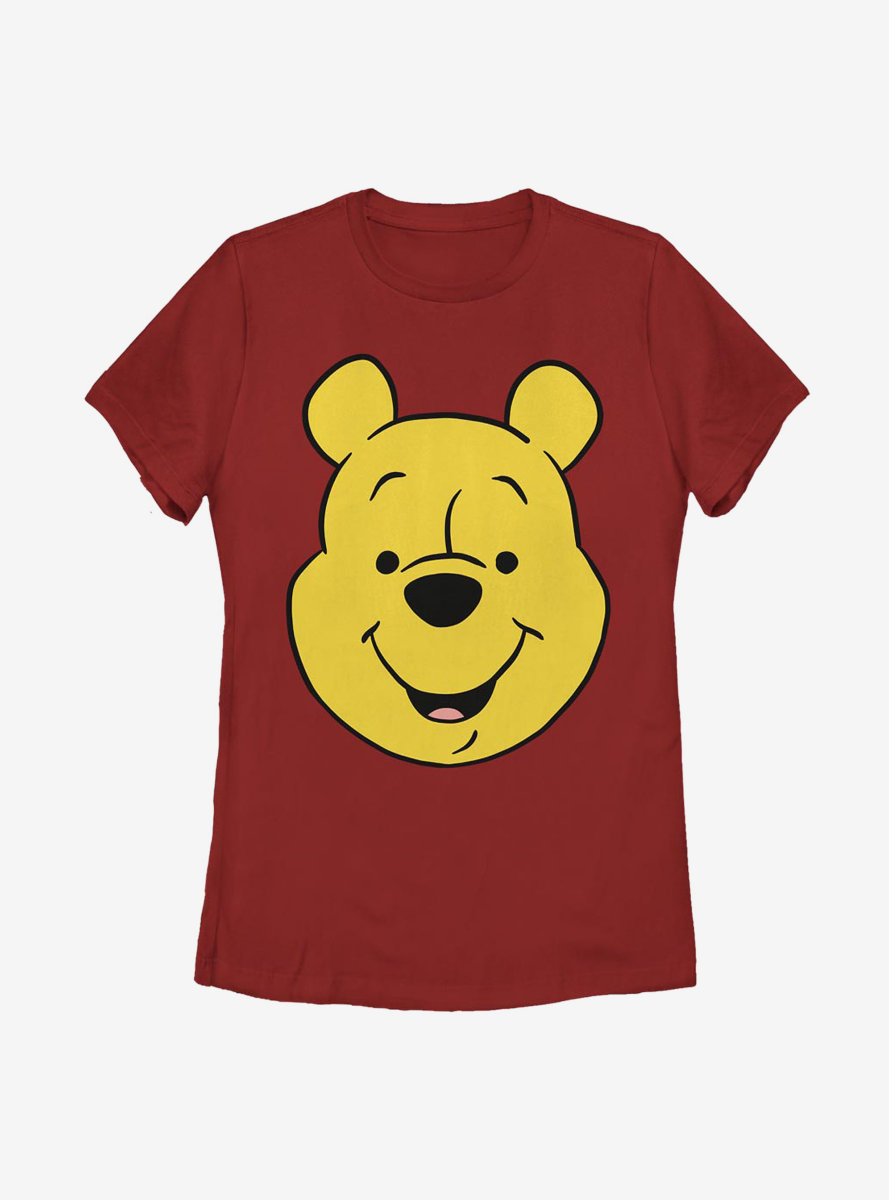 Disney Winnie The Pooh Big Face Womens T-Shirt