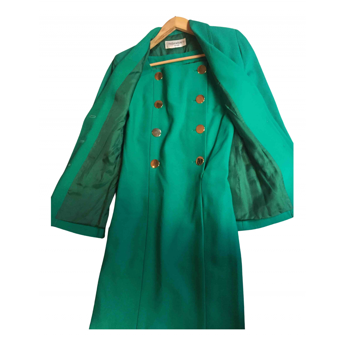 Yves Saint Laurent \N Kleid in  Gruen Synthetik