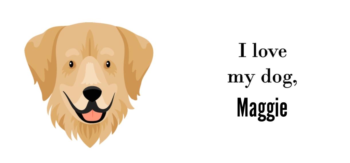 Pets + Animals 11 oz. Pink Accent Mug, Gift -Golden Retriever