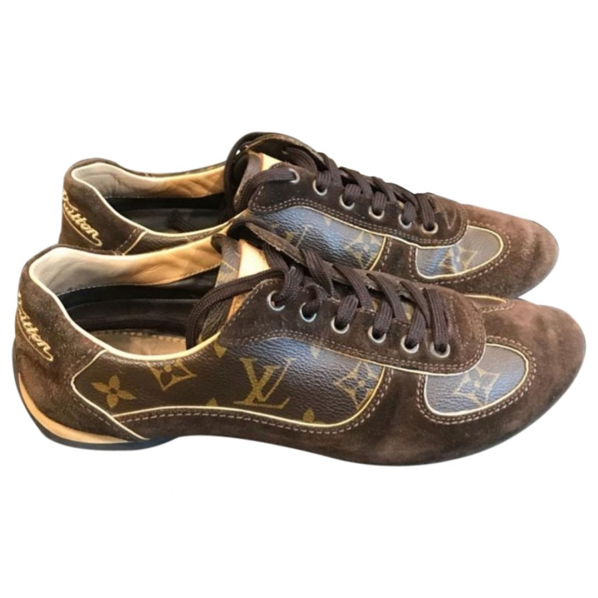 Louis Vuitton \N Brown Leather Trainers for Women 37 EU